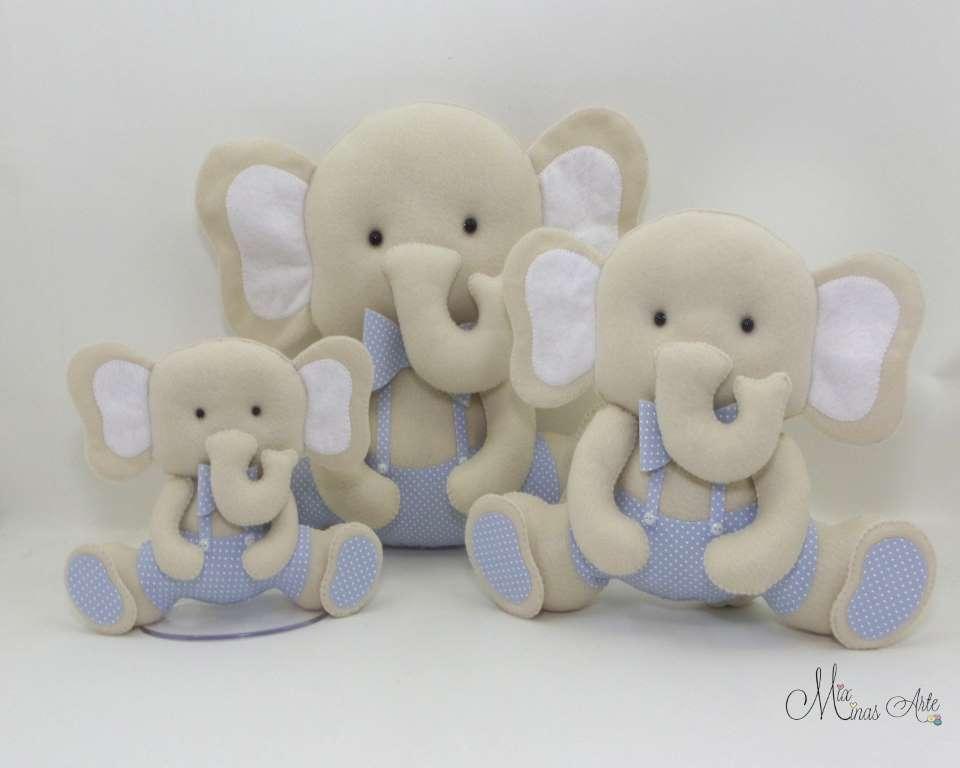 Trio de Elefantes para Nicho
