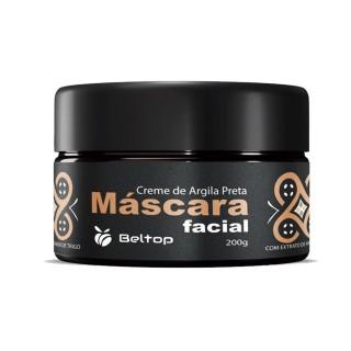 Máscara Facial de Argila Preta - Beltop
