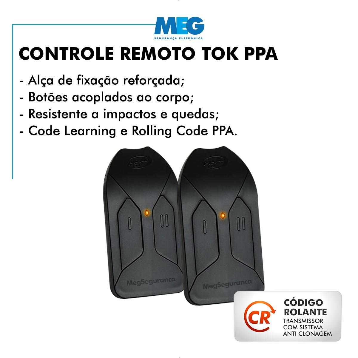 Kit 1 Motor PPA DZ Home 2 Controles Portão Eletrônico 300kg