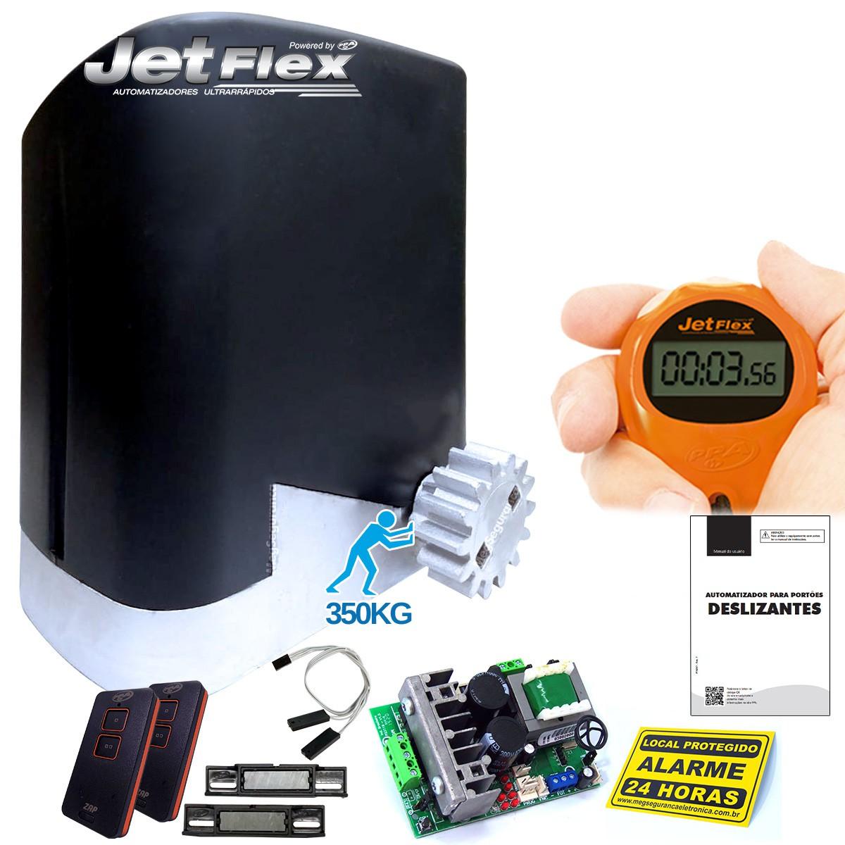 Kit 1 Motor PPA DZ Home Jetflex 2 Controles Portão Eletrônico 350kg