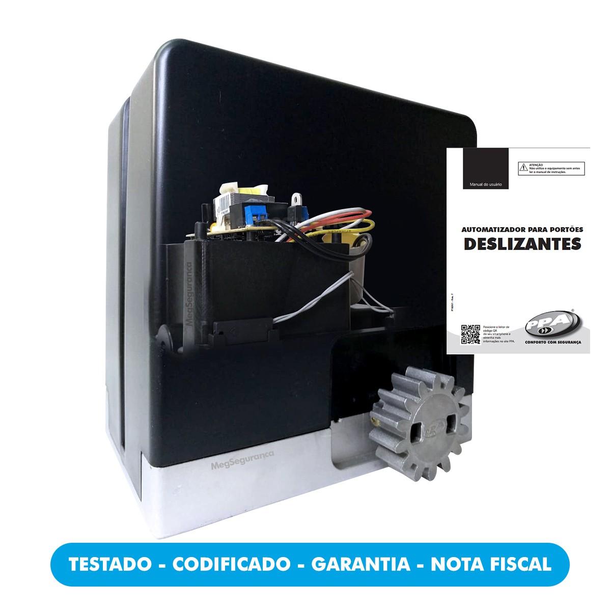 Kit 1 Motor PPA DZ Hub KL 2 Controles Portão Eletrônico 450kg
