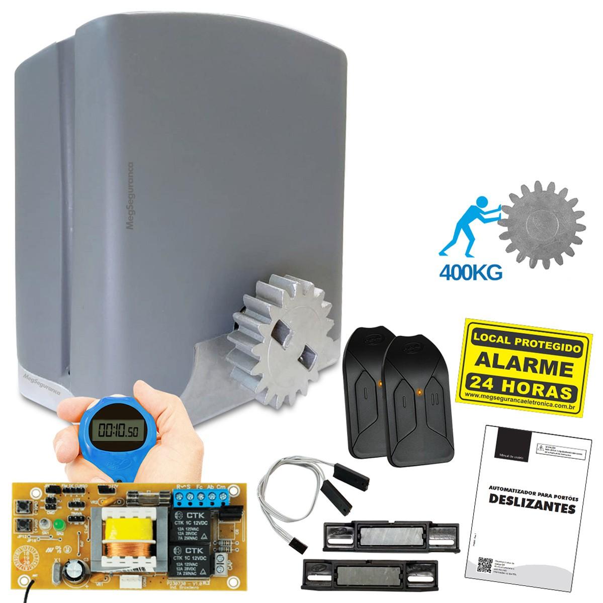 Kit 1 Motor PPA DZ Rio 2 Controles Portão Eletrônico 400kg