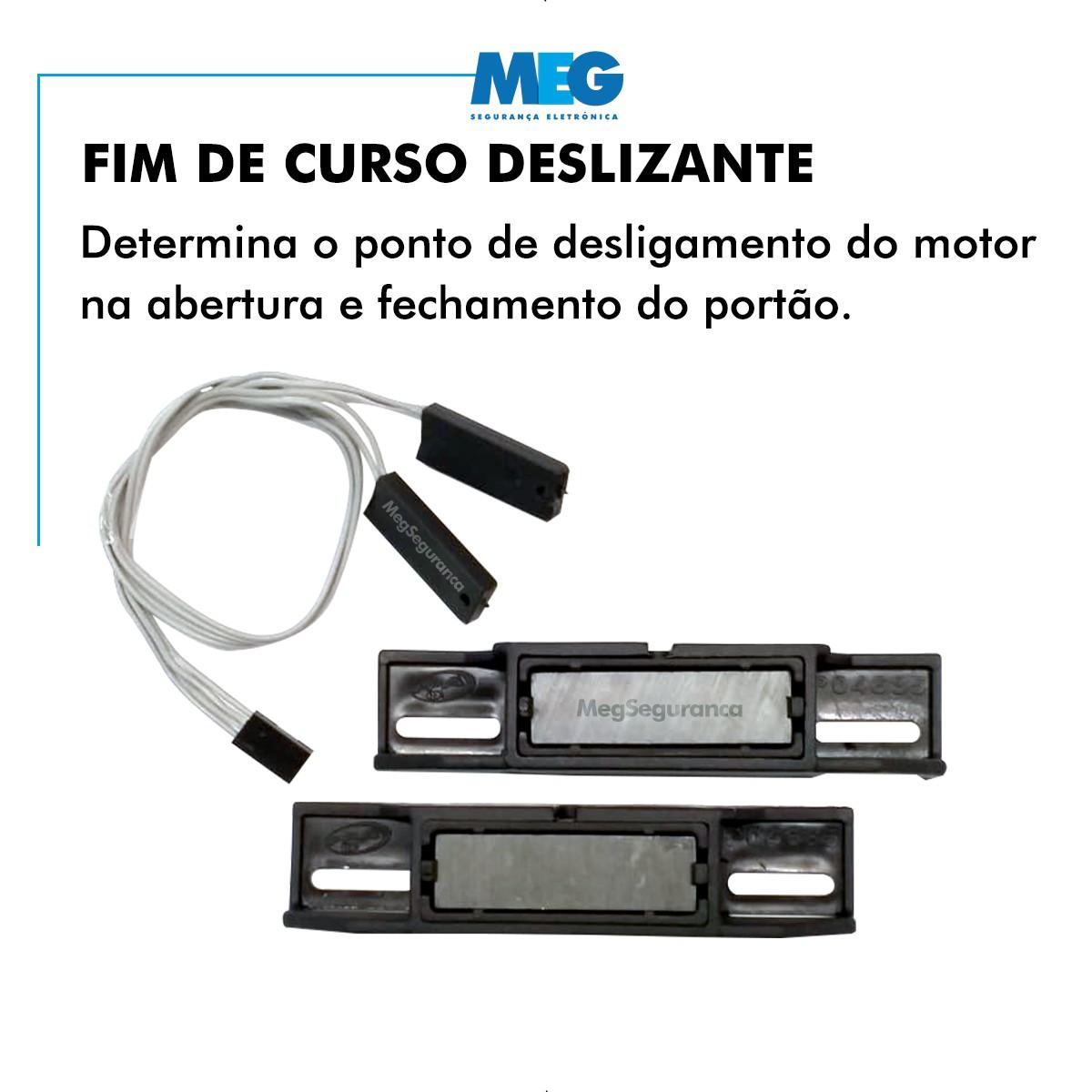 Kit 1 Motor PPA DZ Rio Jetflex 2 Controles Portão Eletrônico 350kg