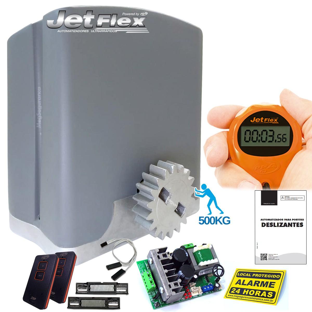Kit 1 Motor PPA DZ Rio Jetflex 2 Controles Portão Eletrônico 500kg