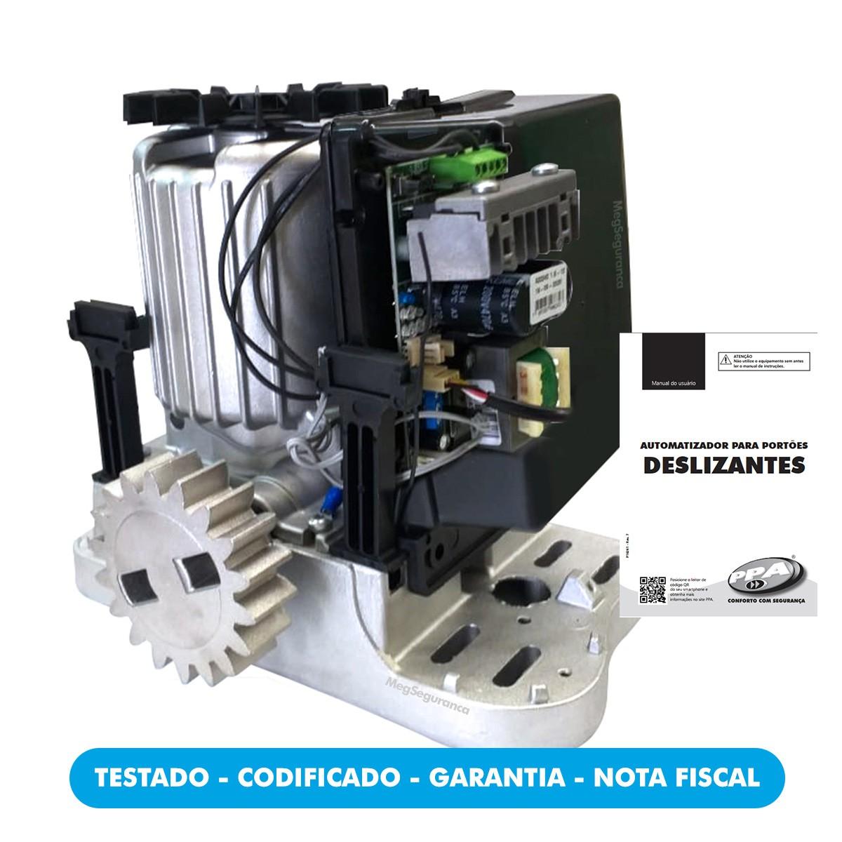 Kit 1 Motor PPA DZ Rio Jetflex 2 Controles Portão Eletrônico 800kg