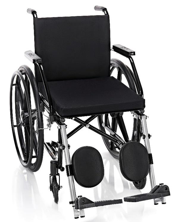 Cadeira de Rodas com Elevação de Pernas, Pneus Macicos