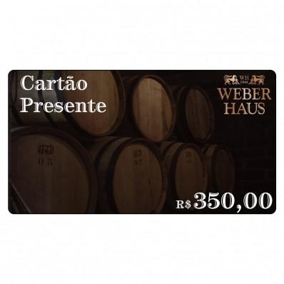 Cartão Presente no Valor de R$350,00