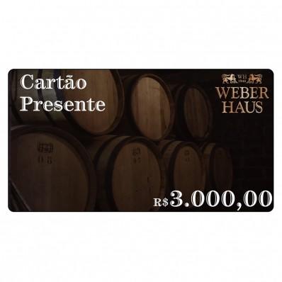 Cartão Presente no Valor de R$3.000,00