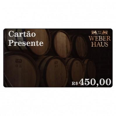 Cartão Presente no Valor de R$450,00