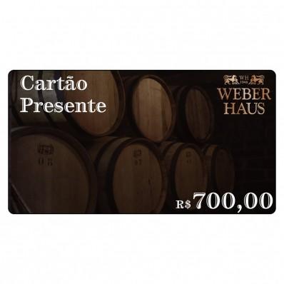 Cartão Presente no Valor de R$700,00