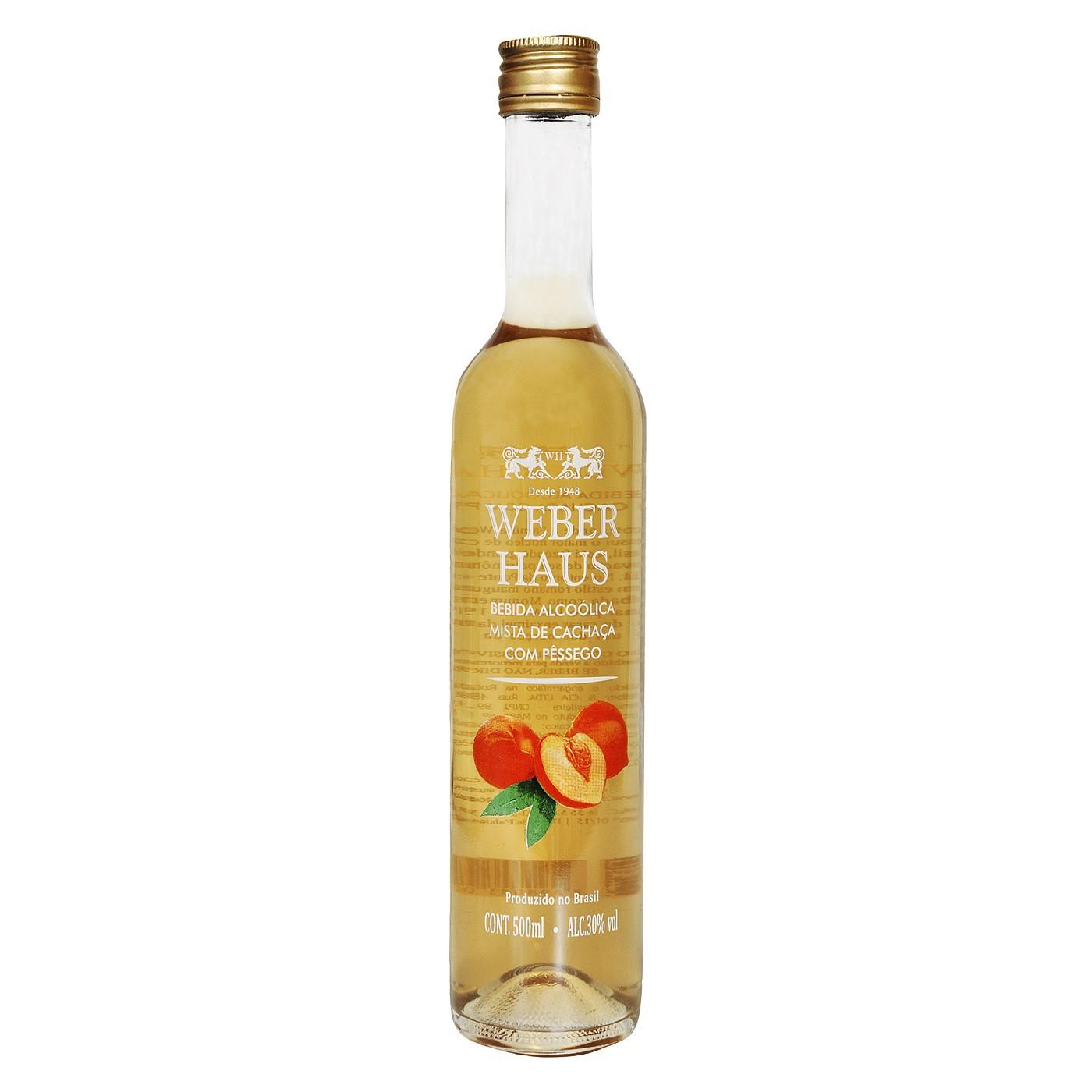 Weber Haus Bebida Mista de Pêssego - 500ml