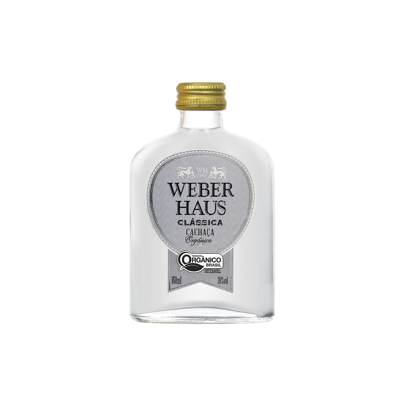 Cachaça Prata Clássica Weber Haus - 160ml