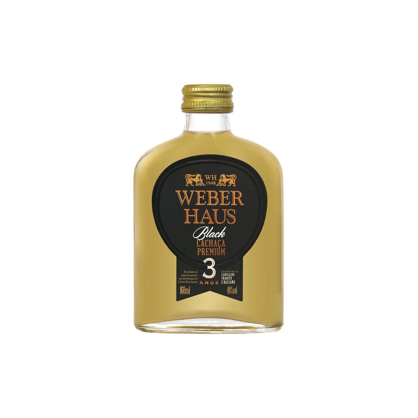 Cachaça Weber Haus Premium Black 3 Anos - 160ml