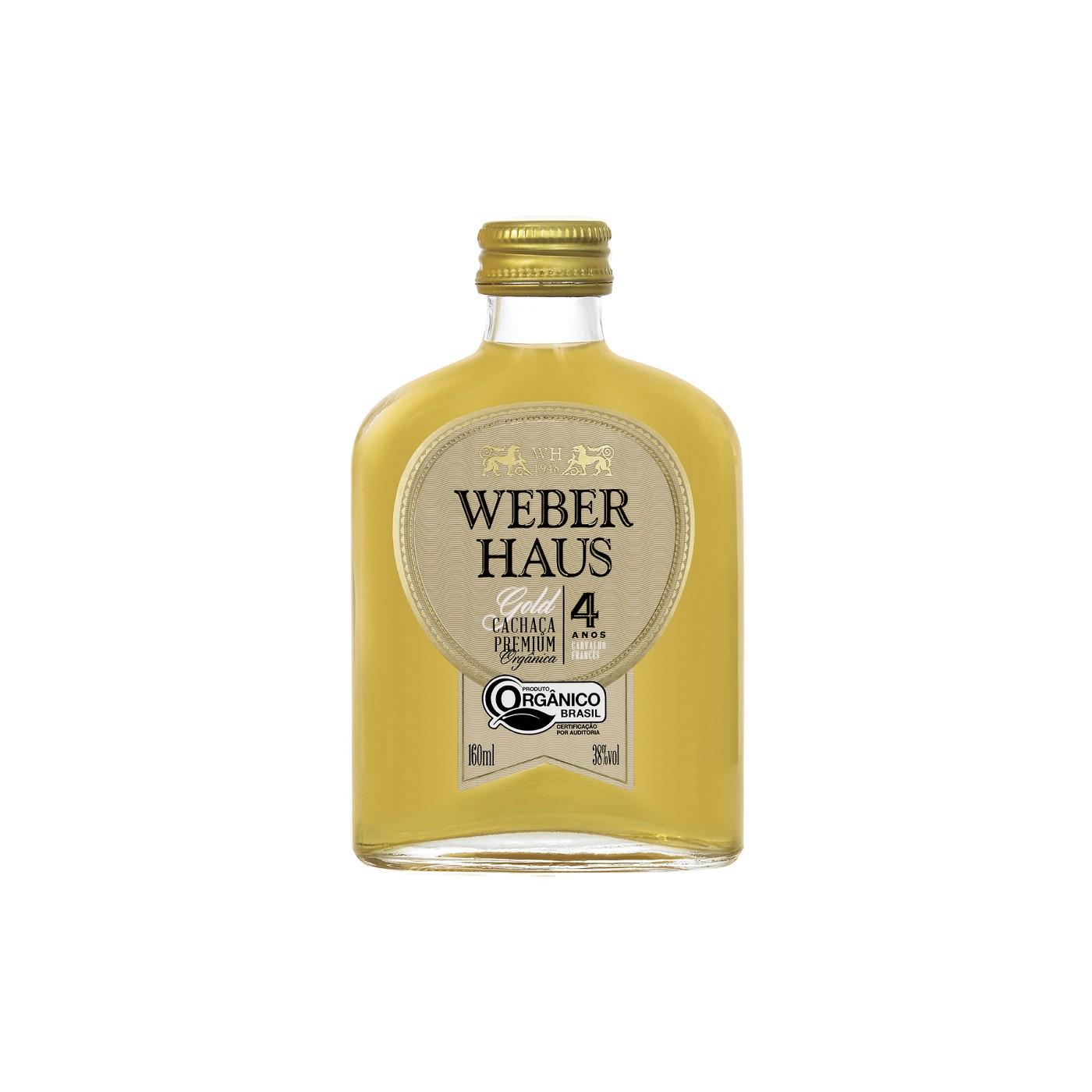 Cachaça Premium Gold 4 Anos Weber Haus - 160ml