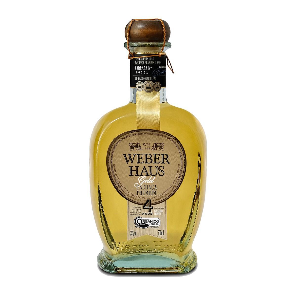 Cachaça Weber Haus  Premium Gold 4 Anos - 750ml