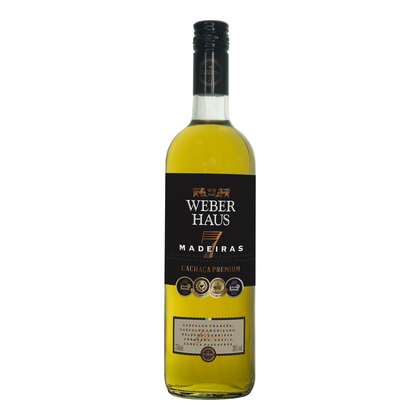 Cachaça Weber Haus Premium 7 Madeiras - 750ml