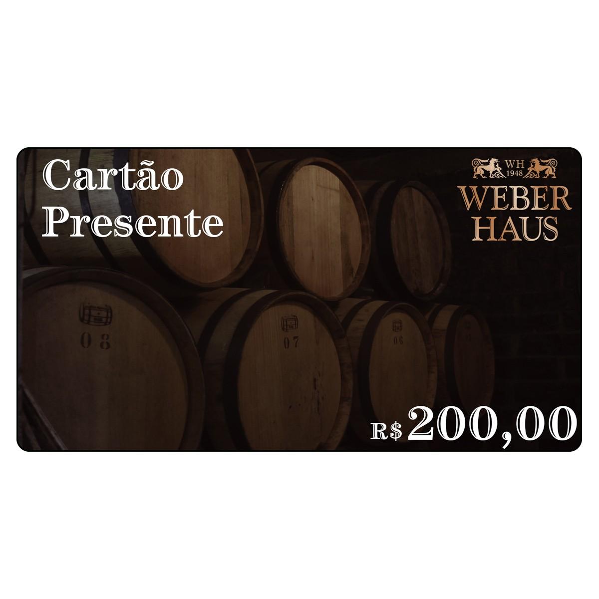 Cartão Presente no Valor de R$200,00