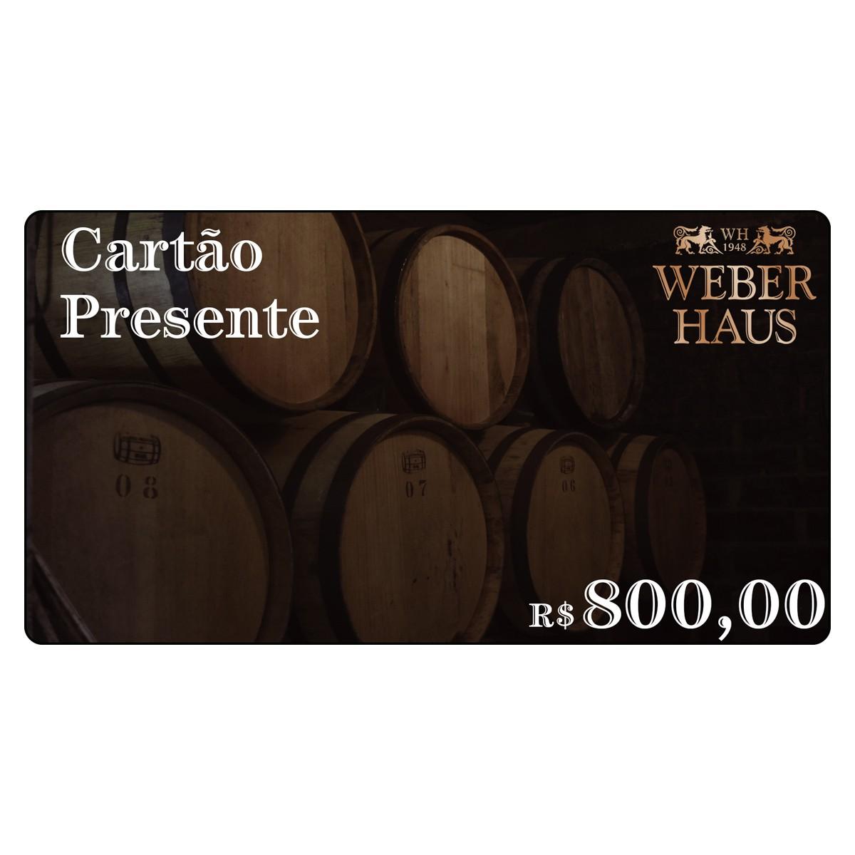 Cartão Presente no Valor de R$800,00