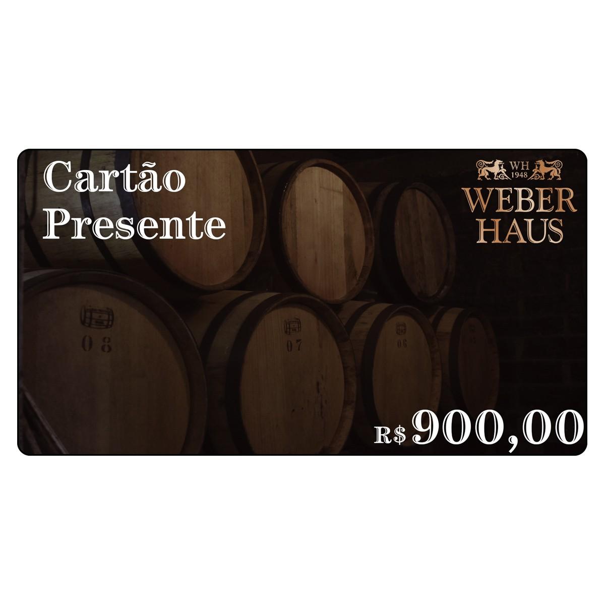 Cartão Presente no Valor de R$900,00