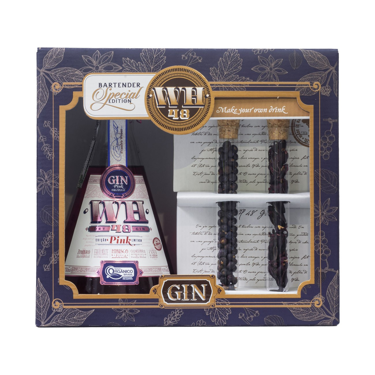 Kit de Gin WH48 Pink com 2 Tubos de especiarias