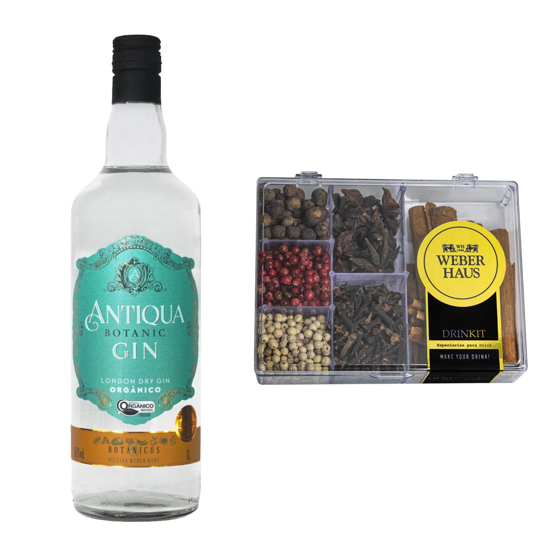 London Dry Gin Antiqua com Kit de Especiarias para Drink