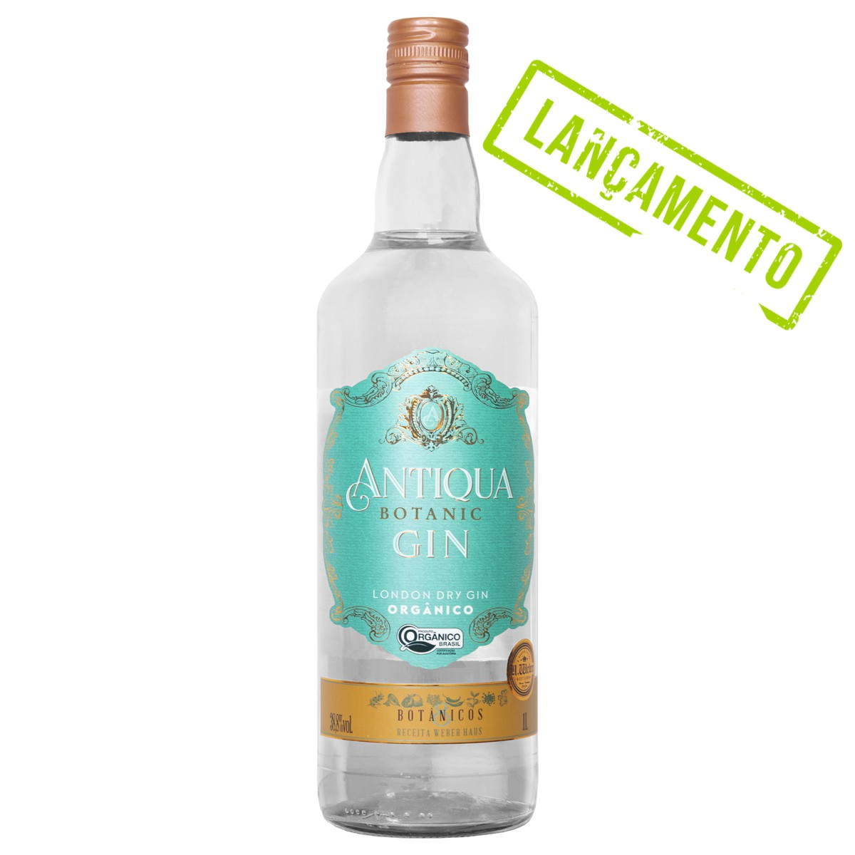 London Dry Gin Orgânico Antiqua - 1L