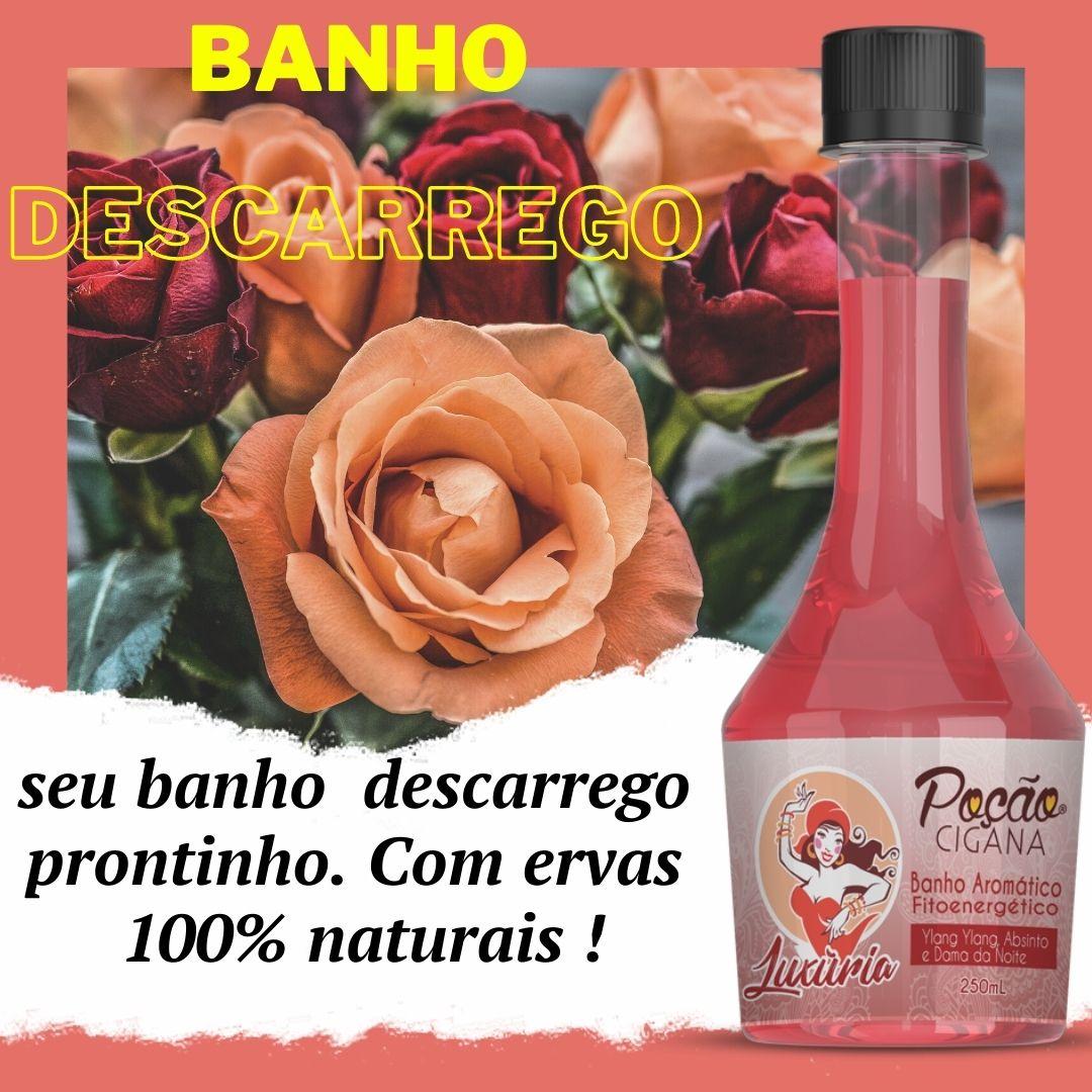 BANHO DE DESCARREGO Poção Cigana LUXÚRIA 250ml ERVAS 100% NATURAIS  descarrego 
