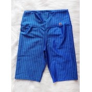 Bermuda Legging em Poliamida 3D - Azul
