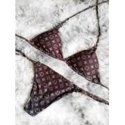 Biquíni Cortininha - Inspired Louis Vuitton Marrom