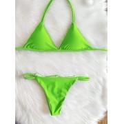 Biquíni de Fita - Verde Neon