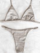 Biquíni Fita Cortininha SEM BOJO - 3D Prata