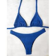 Biquíni Ondas - Asa Delta Cortininha Azul Royal