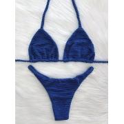 Biquíni Ondas - Fita Cortininha Azul Royal