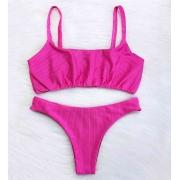 Biquíni Top Alcinha Diamantina - Pink Light