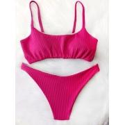 Biquíni Top Canelado - Pink