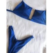 Biquíni V Tule - Azul Royal