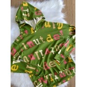 Blusa Letters com Capuz - Verde