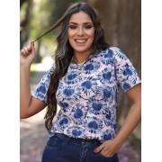 Camiseta Tie Dye Coração Azul