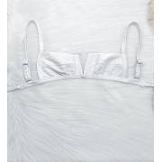 Decote V Canelado Summer - Branco