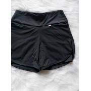 Shorts Fitness Duplo - Preto