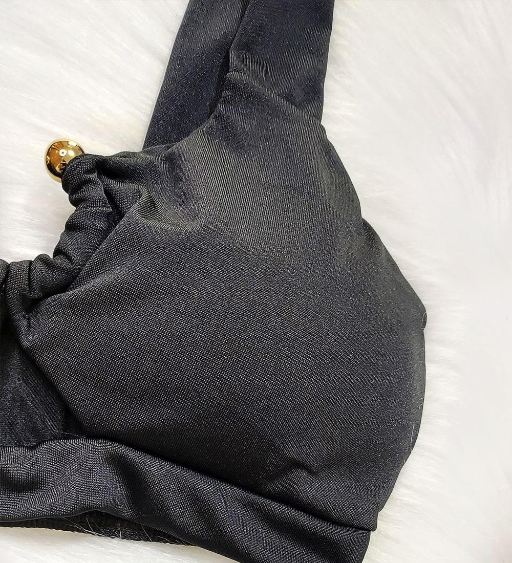 Biquini Argola Hot Pants Vênus - Preto