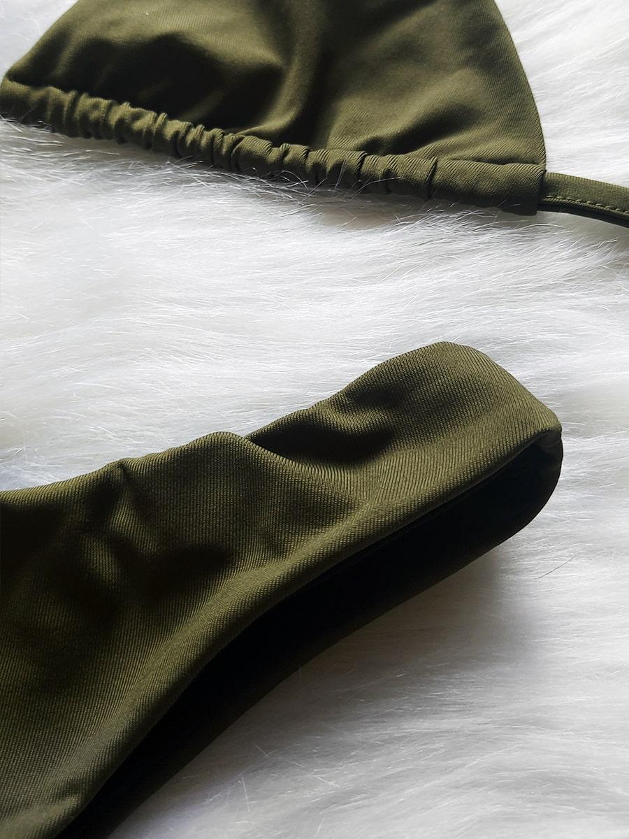 Biquíni Asa Delta Cortininha SEM BOJO - Verde Militar