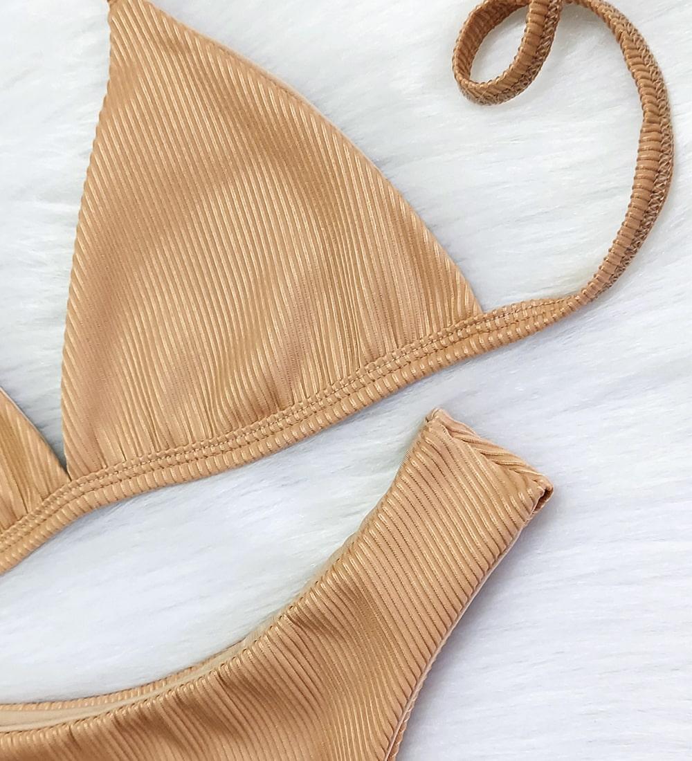 Biquíni Top Fixo Asa Delta - Nude