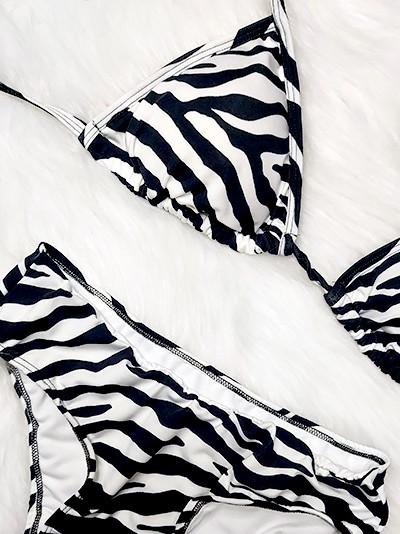 Biquini Cortininha Plus Size - Zebra