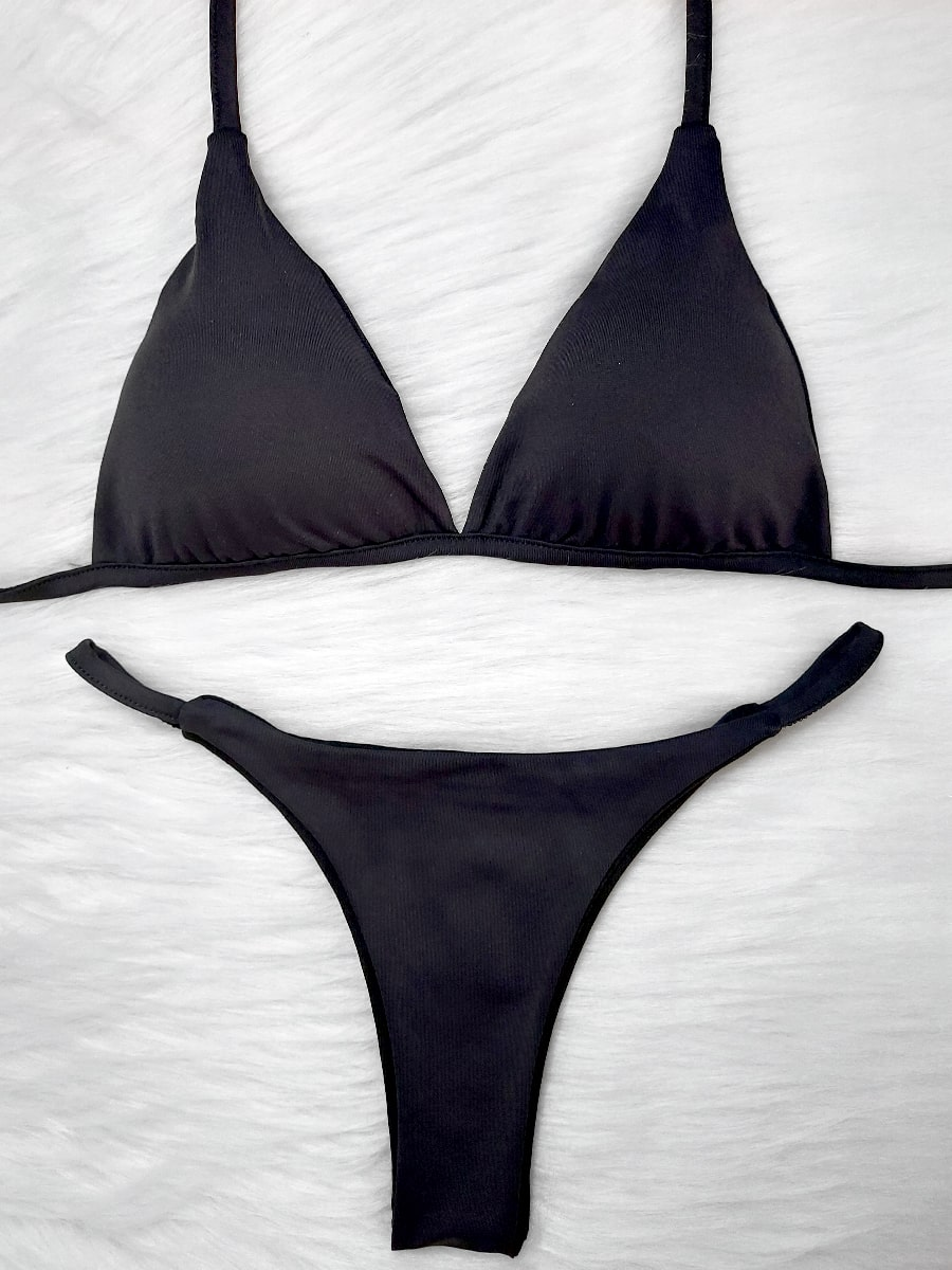 Biquíni de Fita - Preto Negro