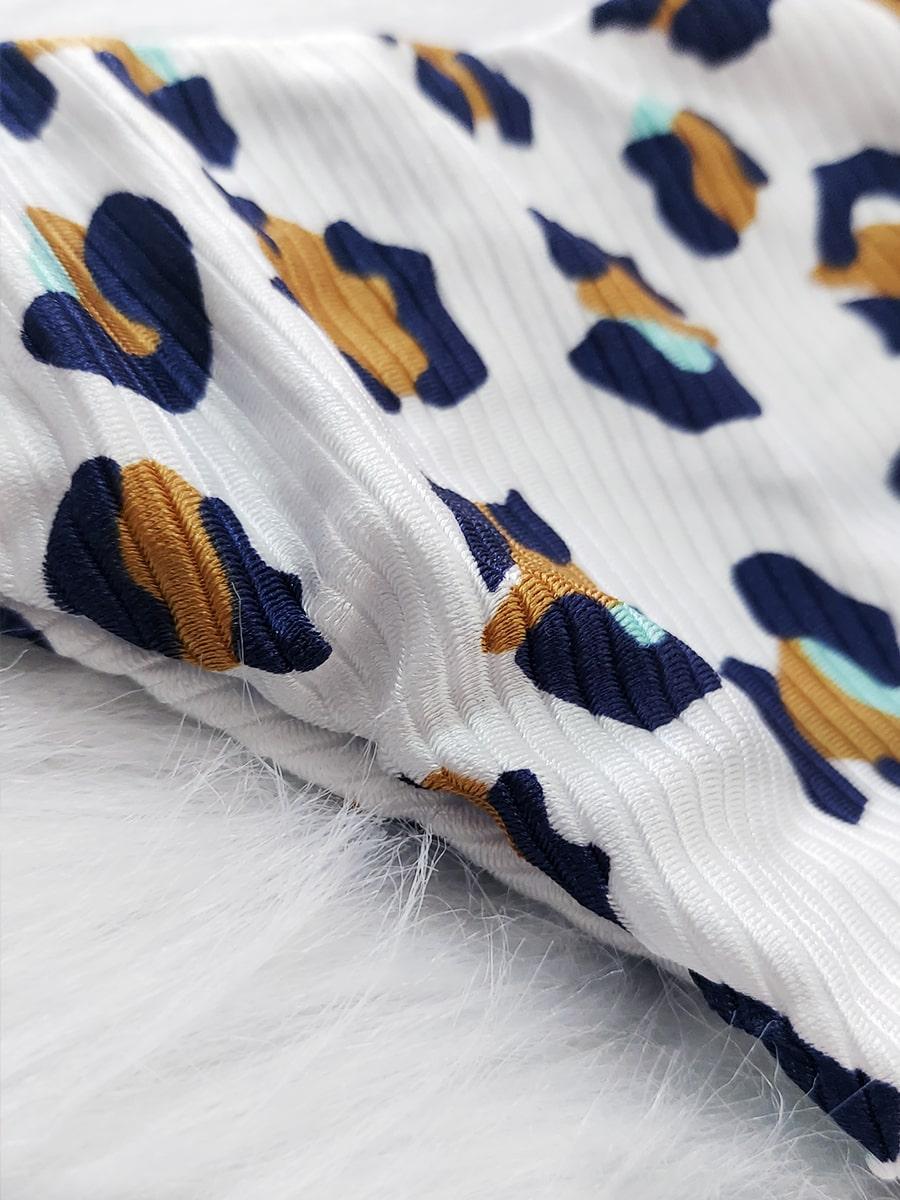 Biquíni de Nó Canelado - Onça Branca