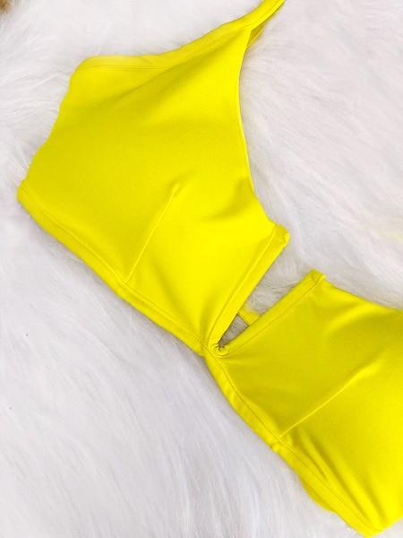 Biquini Decote V - Amarelo