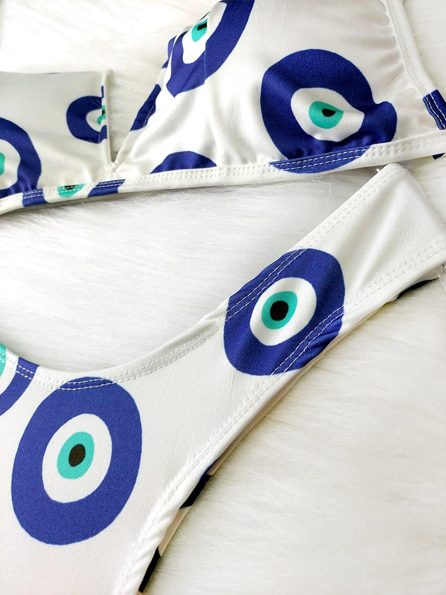 Biquíni Decote V - Olho Grego Branco