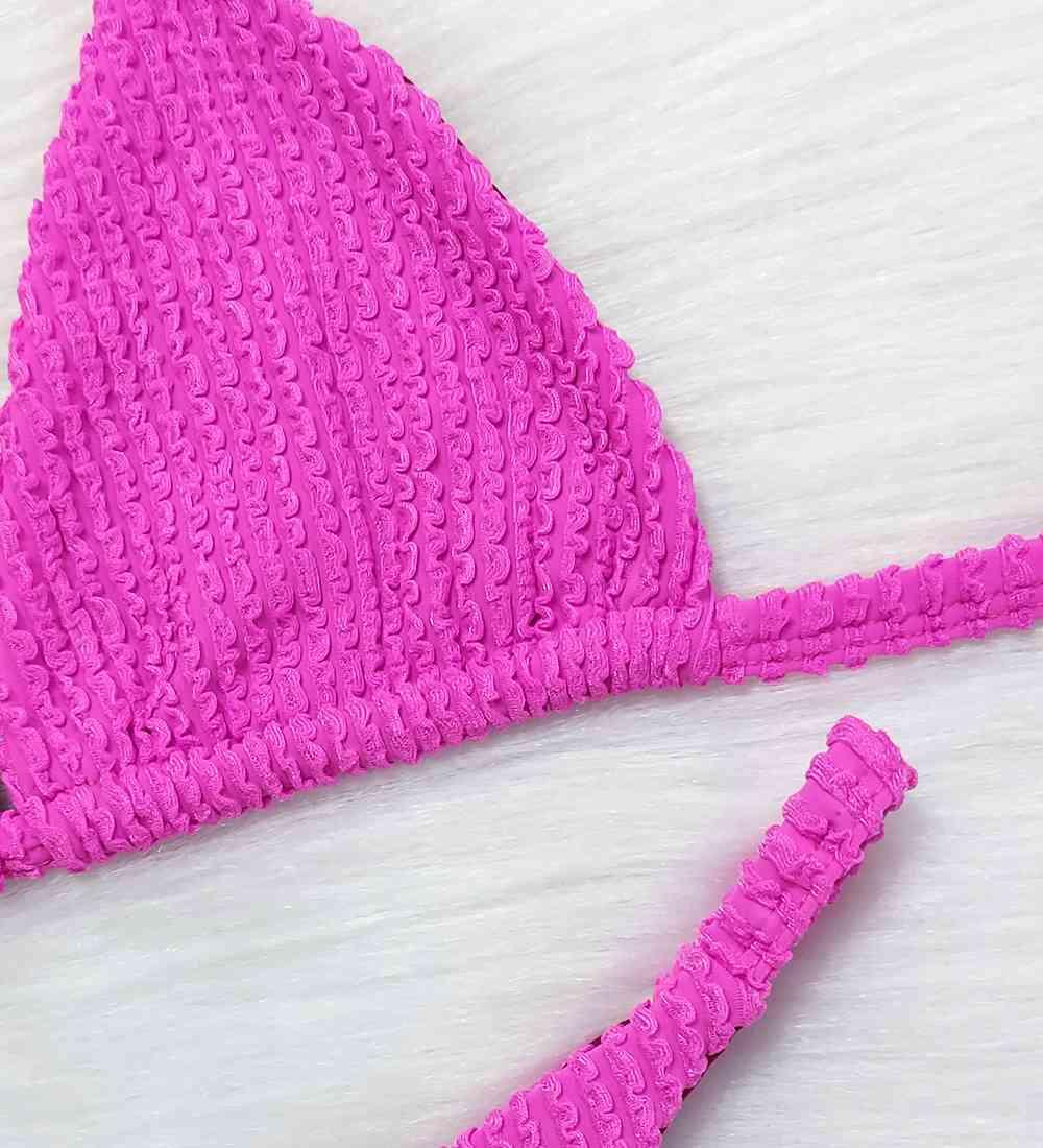 Biquíni Fita Cortininha Glacial - Pink