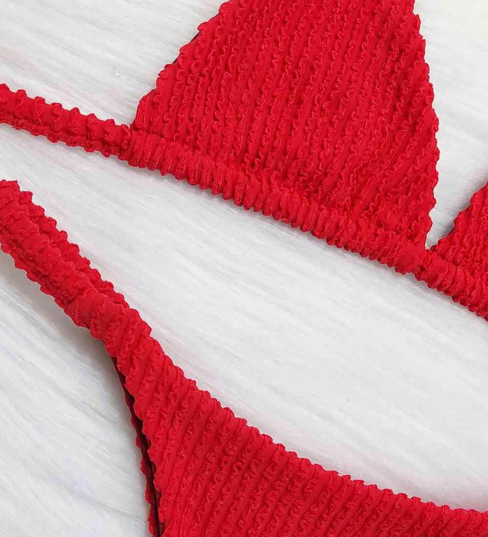 Biquíni Fita Cortininha Glacial - Vermelho